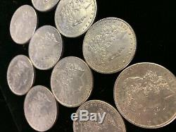 (10) AU 1878-1904 Morgan Silver Dollar 1/2 Roll Almost Uncirculated/Unc