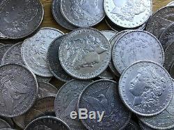 1878-1904 Morgan silver dollars culls -lot of 20 coins- Mix Dates m1001