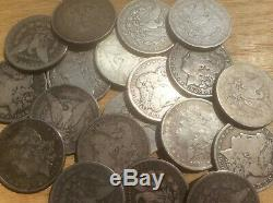 1878-1904 Morgan silver dollars culls (lot of 5 coins) Mix Dates m1000