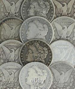 1878-1904 Silver Morgan Dollar Culls Pre 1921 Mixed Dates Lot of 5 Coins