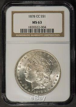 1878-CC MORGAN $1 Silver DOLLAR NGC MS 63 UNC CARSON CITY! Lot#Q544