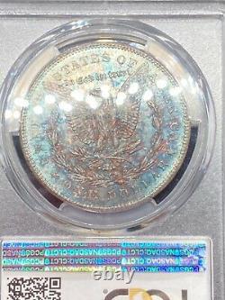 1878-CC PCGS MS-65 MS65 CAC Morgan Silver Dollar, Rainbow Toned, Stunning Toning