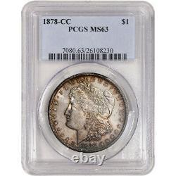 1878-CC US Morgan Silver Dollar $1 PCGS MS63