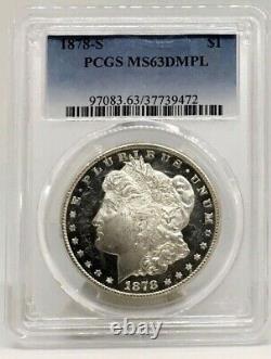 1878-S Morgan Dollar PCGS MS63 DMPL Ultra Snow Cameo Deep Mirror Proof Like