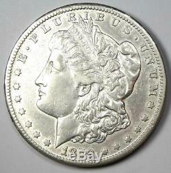 1879-CC Morgan Silver Dollar $1 AU Details Rare Carson City Coin