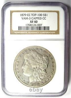 1879-CC Morgan Silver Dollar $1 Carson City Coin Certified NGC XF40 (EF40)