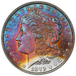 1879-S Morgan Dollar PCGS MS66 Luster Bomb Rainbow Toned This Coin Is Pure Fire