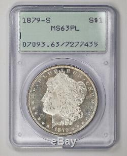 1879 S Morgan Silver Dollar $1 Pcgs Certified Ms 63 Pl Mint Unc Proof-like (435)
