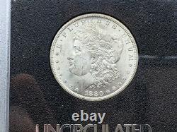1880-CC GSA CARSON CITY Morgan Silver Dollar! Premium Quality With CARD + BOX