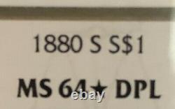 1880 Morgan silver dollar STAR DMPL! RARE GRADEMS64DPLONLY ONE ON EBAY