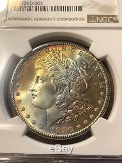 1880 S NGC MS 67 Star Beautifully Toned Morgan Silver Dollar