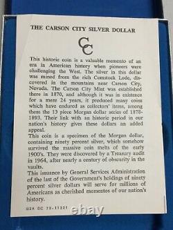 1880-cc Morgan Silver Dollar Gsa Hoard Pcgsms63pl Cac