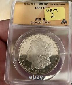 1881 CC Morgan Silver Dollar CAMEO DMPL! VAM-2BEAUTIFUL UNDERGRADED DMPL DPL PL