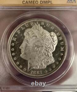 1881 CC Morgan Silver Dollar DMPL! CAMEO DMPL! VAM-2major Upgrade Potential