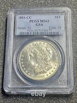 1881-CC Morgan Silver Dollar PCGS MS63 Beautiful