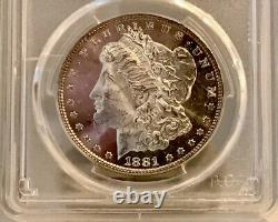 1881-P Morgan Dollar PCGS MS63 DMPL CAC Cameo Deep Mirror Proof Like Only 11 CAC