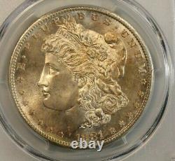 1881-S $1 Morgan Silver Dollar, PCGS MS 67, CAC Approved, Superb! Slight toning
