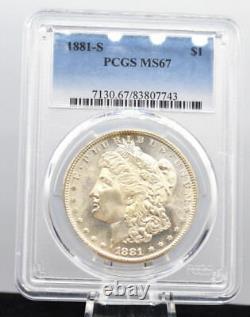 1881-S $1 Morgan Silver Dollar PCGS MS 67 GEM BU Shinning Pretty Lustering