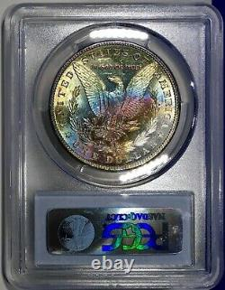 1881-S Morgan Dollar PCGS MS63 Luster Bomb Rainbow Toned