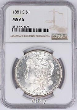 1881-S Morgan Silver Dollar $1 NGC MS66 Bright White