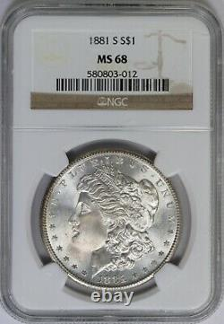 1881-S NGC Silver Morgan Dollar MS68 High Grade Mint State Registry Quality Coin