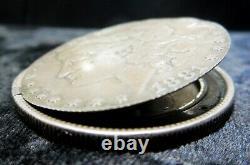 1881 Silver USA Box Dollar Hand Made Hinged Smuggler Morgan $1 Box Coin