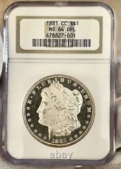 1881-cc Morgan Silver Dollar Dmpl Ngcms64dpl Very Deep Mirrors! Cameo Dmpl