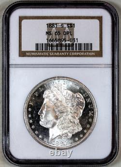 1881-s Ms65 Dpl Ngc Proof-like Morgan Silver Dollar Superb Eye Appeal