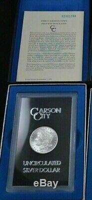 1882 CC Carson City GSA Morgan Silver Dollar Box/COA Uncirculated