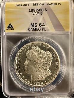 1882 CC Morgan Dollar Cameo MS64PLVAM-5ProoflikeMS64PLNear DMPL Dpl