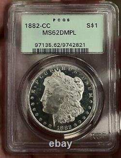 1882 CC Morgan Silver Dollar DMPL B&W CAMEO SUPER FROSTY DMPL MAJOR UNDERGRADE