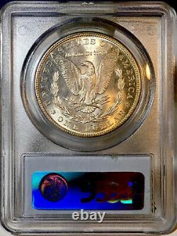 1882-S Morgan Dollar PCGS MS65 Ultra Lustrous Monochromatic Rainbow Toned
