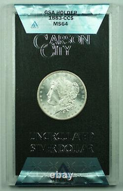 1883-CC GSA Morgan Silver Dollar $1 ANACS MS-64 with Box & COA (M)