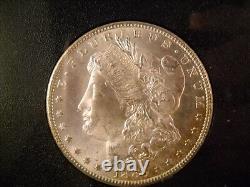 1883-CC Morgan Dollar NGC MS 65 GSA Holder, Box, COA, Rainbow Reverse, GEM BU