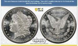 1884 CC Morgan Silver Dollar MS66PLGold ShieldPCGSRARE HIGH GRADE CC