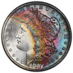 1884-O Morgan Dollar PCGS MS66 Gem+ Original Colorful Bank Bag Rainbow Toned
