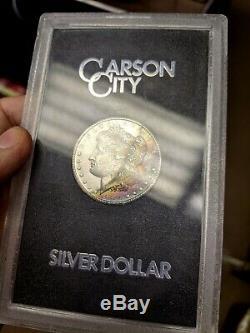 1884-cc $1 Morgan Silver Dollar Bu Gsa Rainbow Toned Tone Unc Trusted
