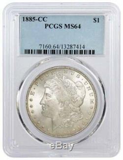 1885 CC $1 Morgan Silver Dollar PCGS MS64