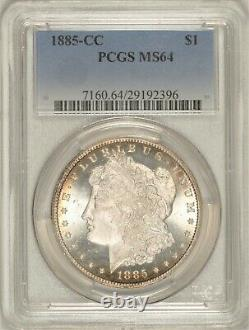 1885-CC Morgan Dollar PCGS MS64 Nice Carson City Coin! #BRM4