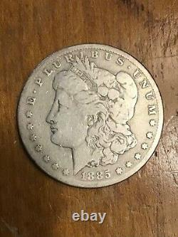 1885 CC Morgan Dollar Scarce Date Good Details Cleaned