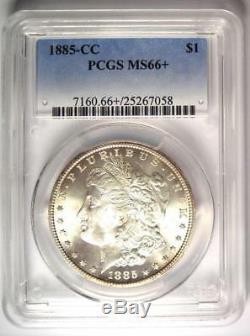 1885-CC Morgan Silver Dollar $1 Coin PCGS MS66+ PQ Plus Grade $2,950 Value