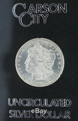 1885-CC Uncirculated Morgan Dollar in a Carson City Holder S$1