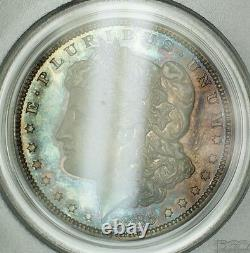 1885 Proof Morgan Silver Dollar $1 Coin PCGS PR-64 Beautifully Toned TW