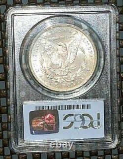 1885-o Beautifully Toned Pcgs Ms 65 Cac Morgan Silver Dollar Rainbow 3/4 Moon