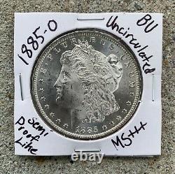 1885 o morgan silver dollar Uncirculated! Semi Proof Like! Gem Bu! Ms+++