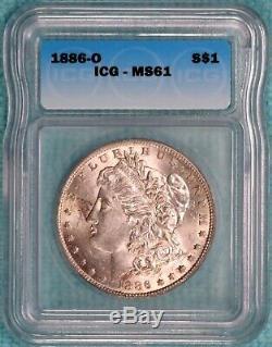 1886-O MS-61 Morgan Silver Dollar Uncirculated Unc Lot #2