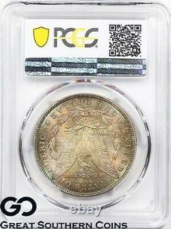 1886 PCGS Morgan Silver Dollar Silver Coin MS-66 CAC Cert. Rainbow Toner