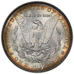1886-P Morgan Dollar PCGS MS63 The Ultimate Bullseye Target Tone Rainbow Toned