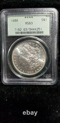 1888 Morgan Dollar 20 PCGS MS 63 in OGH, all from the same original roll