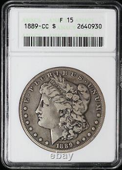 1889-CC $1 Morgan Dollar ANACS F 15